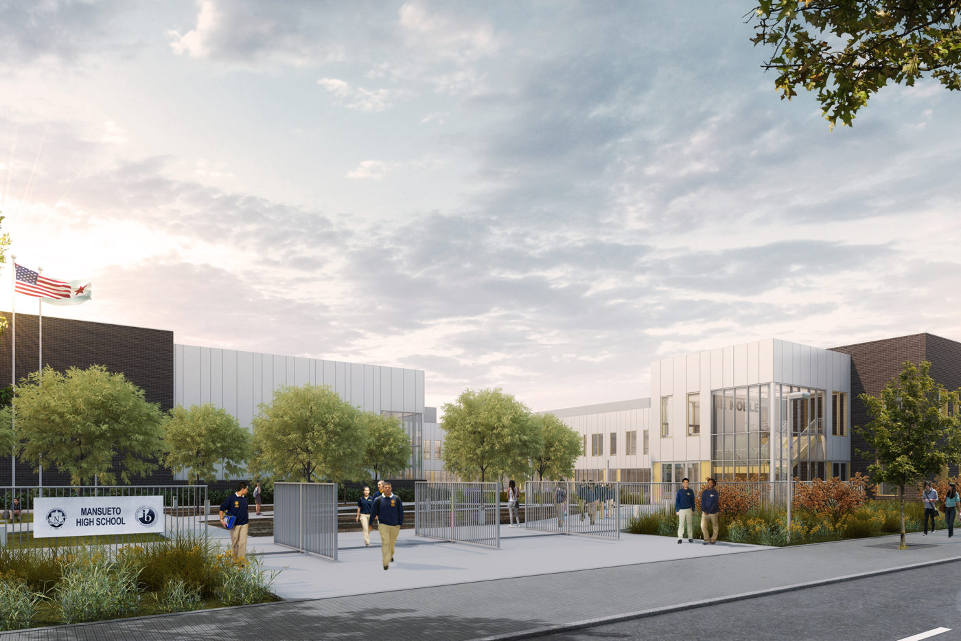 Civil Contractor Mansueto High School Wheeler Kearns Architects