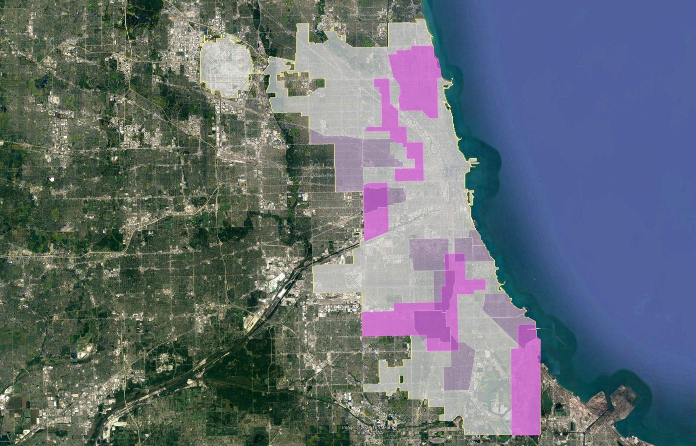 ADU Pilot Areas over Invest South West Neighborhoods